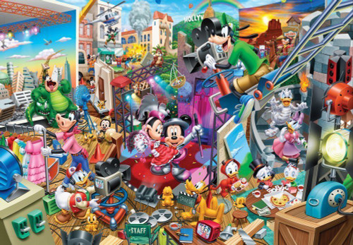 Tenyo Japan Jigsaw Puzzle D-300-276 Disney Mickey Movie Studio (300 Pieces)
