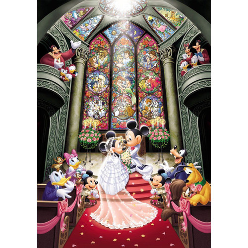 Tenyo Japan Jigsaw Puzzle DS-1000-763 Disney Mickey Mouse Wedding (1000 Pieces)