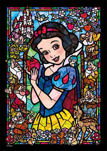 Tenyo Japan Jigsaw Puzzle DSG-266-957 Disney Snow White Stained Glass (266 Pieces)