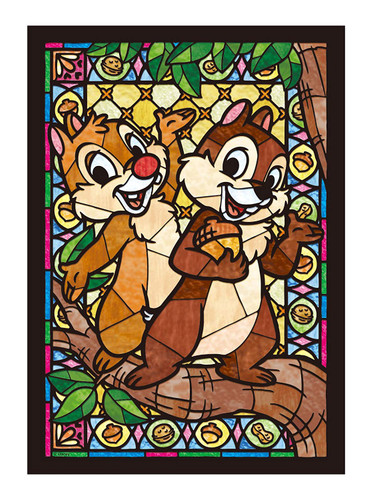 Tenyo Japan Jigsaw Puzzle DSG-266-749 Disney Chip 'n' Dale Stained Glass (266 Pieces)