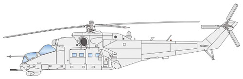 Platz AE-16 Mi-24V/VP Hind E 1/72 Scale Plastic Model Kit
