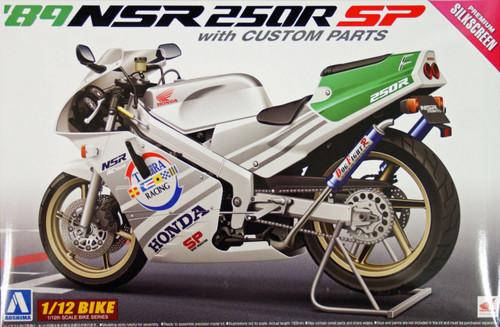 Aoshima Naked Bike 105 Honda NSR250R SP 1989 with Custom Parts 1/12 Scale Kit