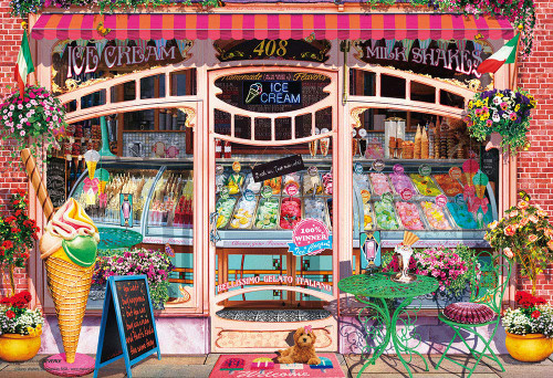Beverly Jigsaw Puzzle M81-581 Gary Walton Ice Cream Shop (1000 S-Pieces)
