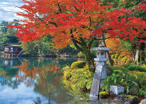 Epoch Jigsaw Puzzle 05-119 Autumn in Kenrokuen Ishikawa Japan (500 Pieces)