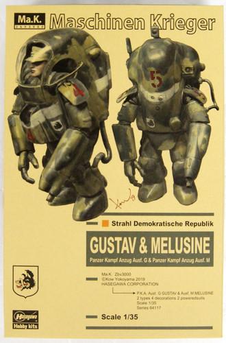 Hasegawa 64117 P.K.A.Ausf.G GUSTAV & Ausf.M MELUSINE 1/35 Scale Kit
