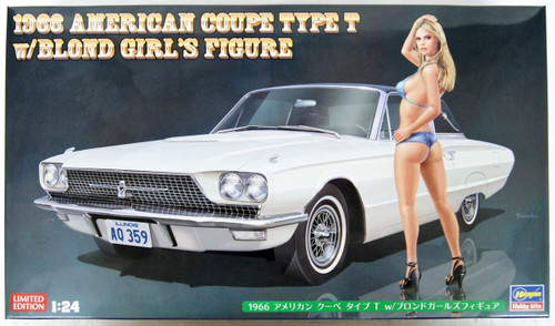 Hasegawa SP441 1966 American Coupe Type T w/Blonde Girls Figure 1/24 Scale Kit
