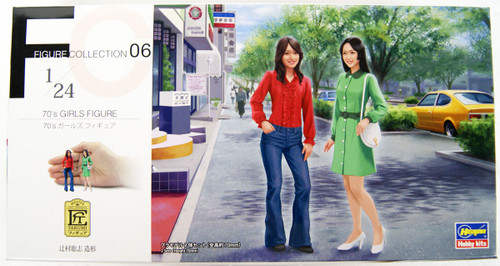 Hasegawa FC06 70's Girls Figure 1/24 Scale Kit