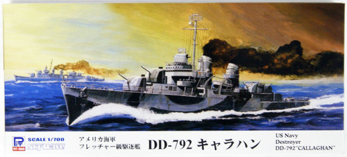 Pit-Road W-224 USN Fletcher-Class Destroyer DD-792 USS Callaghan 1/700 scale kit