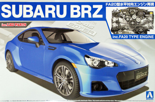 Aoshima 07617 Subaru BRZ with FA20 Type Engine (inc. LHD parts) 1/24 Scale Kit