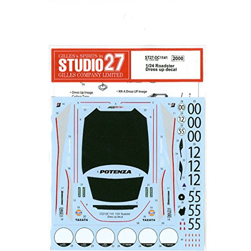 Studio27 ST27-DC1141 Roadster Dress Up Decal For Tamiya 1/24