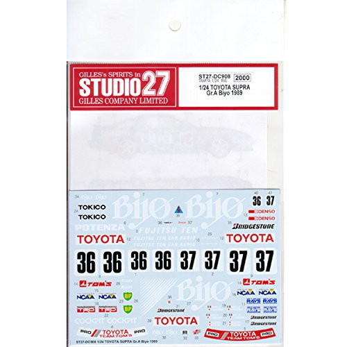 Studio27 ST27-DC908 Toyota Supra Gr.A Biyo 1989 Carbon Decal for Tamiya 1/24 Scale