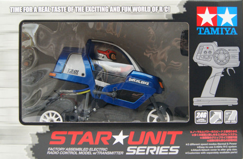 Tamiya 47384 Star Unit Triple Wheel Dancing Rider (Assembled) (T3-01 Chassis) Metallic Blue Body 1/8