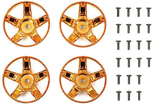 Tamiya 47415 WR-02CB S Parts Orange Plated Spokes (4 pcs)