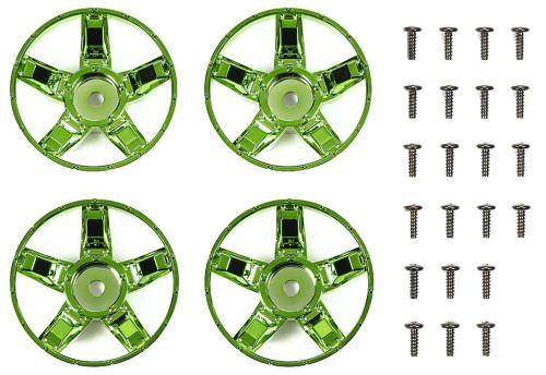 Tamiya 47416 WR-02CB S Parts Green Plated Spokes (4 pcs)