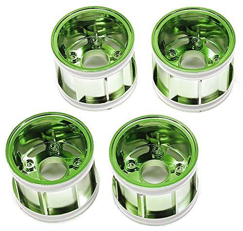 Tamiya 47418 WR-02CB T Parts Green Plated Wheel Rims (4 pcs)