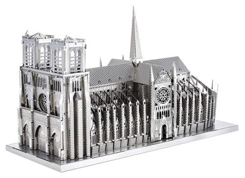 Tenyo Metallic Nano Puzzle T-MP-04 Premium Series Notre Dame Cathedral