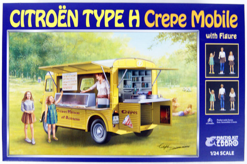 Ebbro 25013 CITROEN Type H Crepe Mobile with Figure 1/24 scale plastic model kit