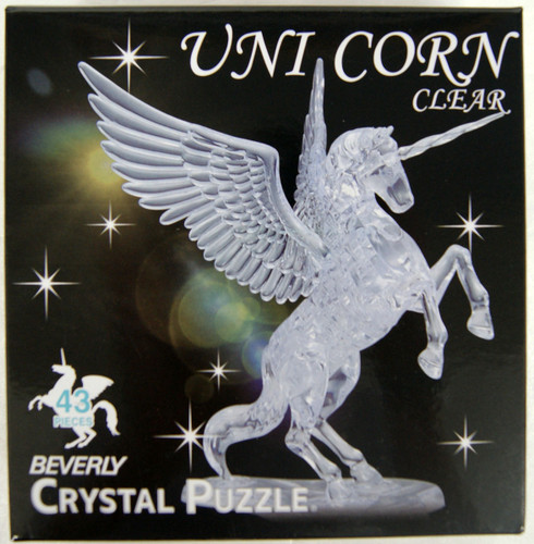 Beverly Crystal 3D Puzzle 486978 Unicorn Clear (43 Pieces)