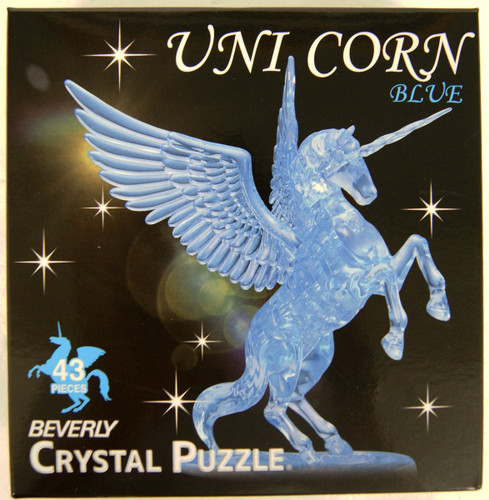 Beverly Crystal 3D Puzzle 486985 Unicorn Blue (43 Pieces)
