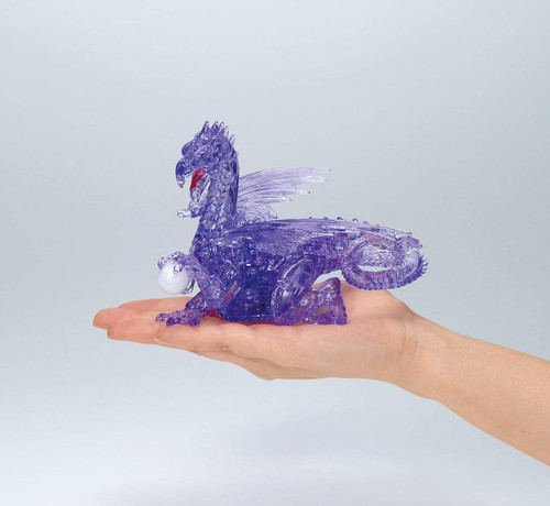 Beverly Crystal 3D Puzzle 487029 Dragon Purple (56 Pieces)