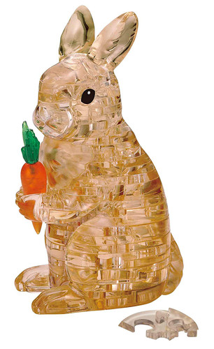Beverly Crystal 3D Puzzle 486596 Rabbit Brown (43 Pieces)