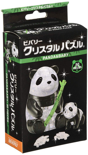 Beverly Crystal 3D Puzzle 486558 Panda & Baby (50 Pieces)