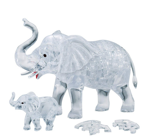 Beverly Crystal 3D Puzzle 486503 Elephant Clear (46 Pieces)