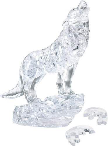 Beverly Crystal 3D Puzzle 485902 Wolf Silver (37 Pieces)