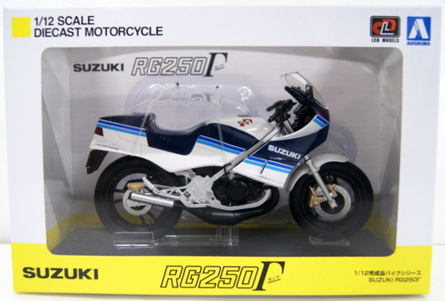 Aoshima Skynet 06761 Suzuki RG250 Gamma Blue x White 1/12 Scale Finished Model