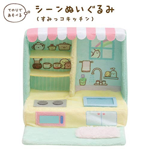 San-X Sumikko Gurashi Scene Plush Toy 'Kitchen' TJN