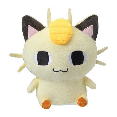 Pokemon Center Original Plush Doll 24 Hour Pokemon CHU Line Stamp Meowth