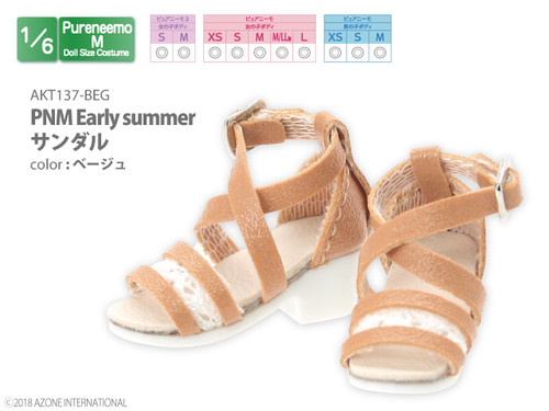Azone AKT137-BEG Pure Neemo XS-L 1/6 PNM Early Summer Sandal (Beige)