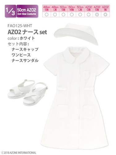 Azone FAO125-WHT AZO2 Nurse Set (White)