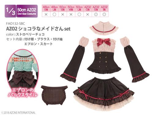 Azone FAO132-SBC AZO2 Chocolate Maid Set (Strawberry Chocolate)