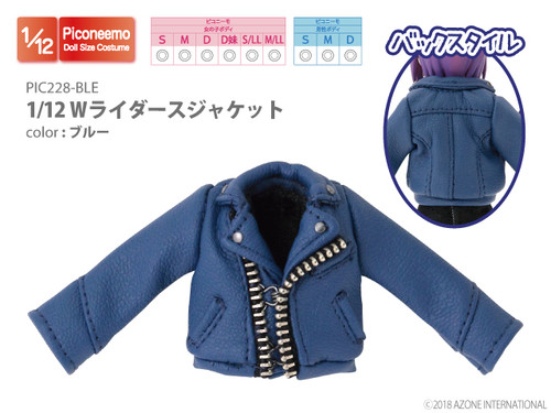 Azone PIC228-BLE 1/12 W Riders Jacket (Blue)
