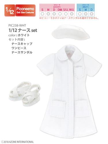 Azone PIC238-WHT 1/12 Nurse Set (White)