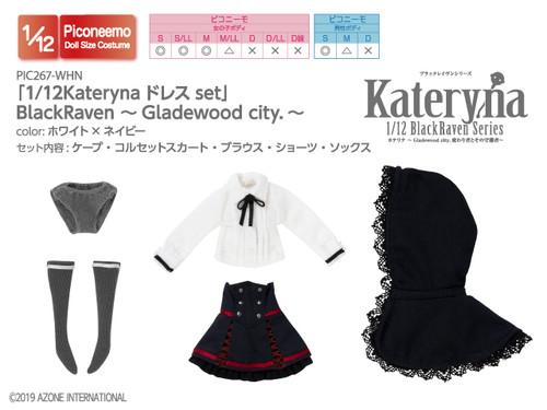 Azone PIC267-WHN 1/12 Kateryna Dress Set (White x Navy)