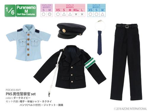 Azone POC455-NVY PNS Male Police Officer Set (Dark Navy)