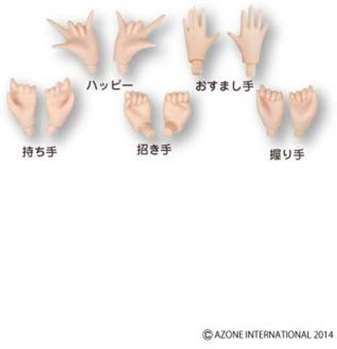 Azone PFL021-FLS Pure Neemo Flexion Hand Parts Set A (Skin Color)
