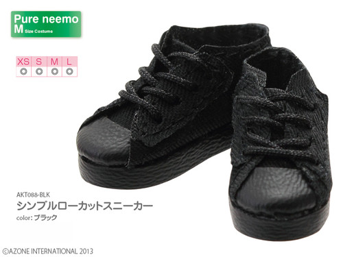 Azone AKT088-BLK Pure Neemo Simple Low Cut Sneakers (Black)