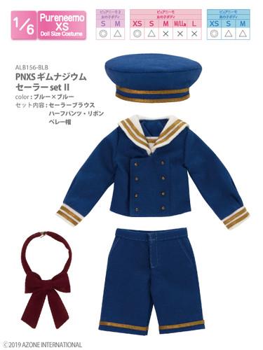Azone ALB156-BLB PNXS Gymnasium Sailor Suit School Uniform Set II (Blue x Blue)