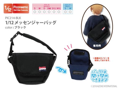Azone PIC214-BLK Picco Neemo 1/12 Messenger Bag (Black)