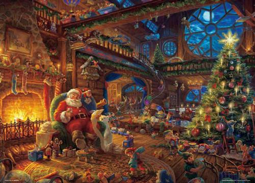 Beverly Jigsaw Puzzle 66-135 Thomas Kinkade Santa's Workshop (600 Pieces)