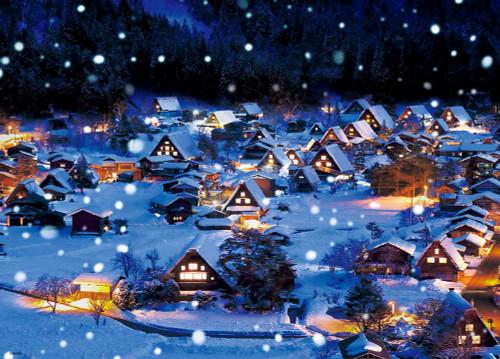 Beverly Jigsaw Puzzle 66-136 Snow in Shirakawa-go, Gifu, Japan (600 Pieces)