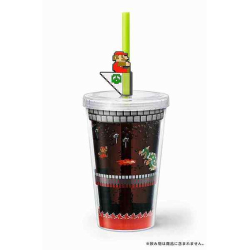Nintendo Super Mario Home & Party Straw Tumbler (Bowser's Castle)