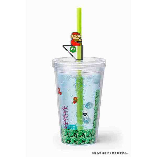 Nintendo Super Mario Home & Party Straw Tumbler (Water Level)