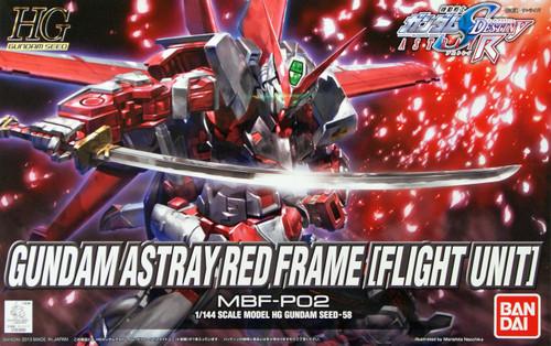 Bandai 836687 HG Gundam Seed Gundam Astray Red Frame Flight Unit 1/144 Scale Kit