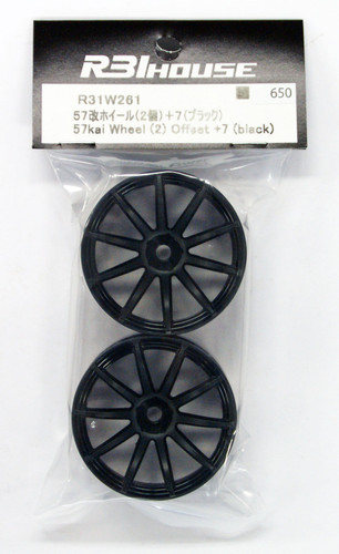 R31HOUSE R31W261 57kai Wheel Offset +7 (Black/2 pcs)
