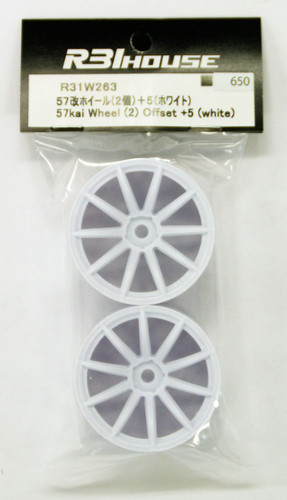 R31HOUSE R31W263 57kai Wheel Offset +5 (White/2 pcs)