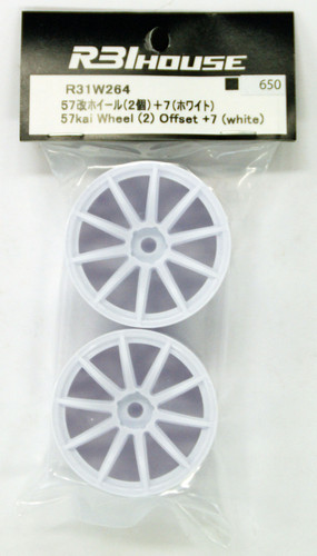 R31HOUSE R31W264 57kai Wheel Offset +7 (White/2 pcs)